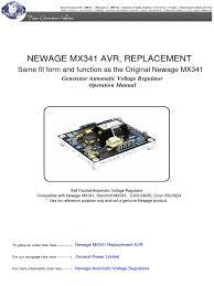 newage mx341 automatic voltage regulator electric generator