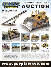 sold may 23 sharpe rentals inventory reduction auction pu