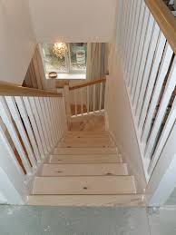 Oak Banisters A Softwood Winder Staircase For A Loft Conversion Painted White