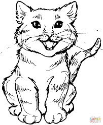 meowing kitten coloring page free printable coloring pages
