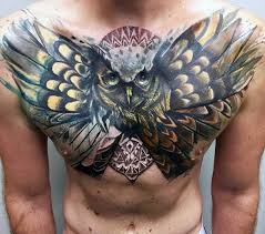 tattoo 3d design chest 70 owl chest tattoo designs for men nocturnal ink ideas