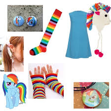Pony Rainbow Dash Halloween Costume Rainbow Dash Halloween Costume Polyvore