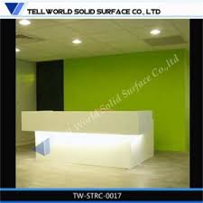 Acrylic Reception Desk China Modern Unique Beauty Standing Luxury Led Marble Acrylic