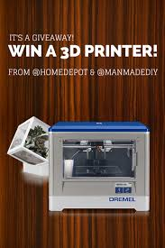 ridgid home depot wet dry vac black friday 2009 giveaway win a free dremel idea builder 3d printer from the home