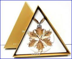 gold ornament set with stand 2014 swarovski
