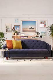 sofa navy couch loveseat sleeper sofa tufted sofa bed velvet
