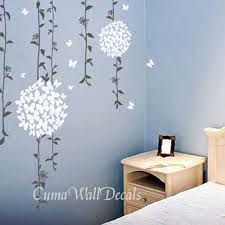 White Flower Wall Decor White Cherry Blossom Wall Decals Flower From Cuma On Etsy