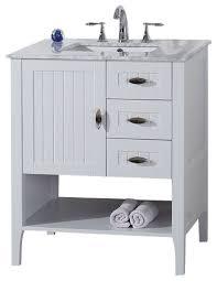 Marble Sink Vanity Bellaterra 30 Single Sink Vanity White With Marble Top Within