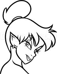 draw dark tinkerbell step step disney characters