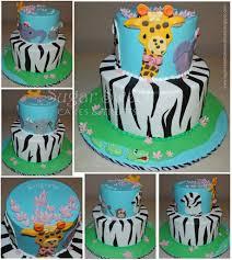 2010 01 safari jungle animals baby shower cake a photo on flickriver