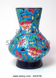 Enamel Vase Longwy Art Deco Emaux Enamel French Pottery Vase 1930 Stock Photo