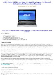 light notebooks with long battery life asus ul20a a1 thin and light 12 1 inch silver laptop 7 5 hours of b
