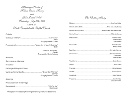 wedding bulletins exles christian wedding ceremony program exles wedding programs