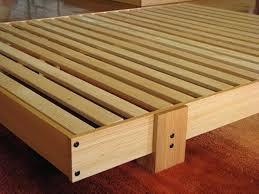 wood slat bed frame u2013 bare look