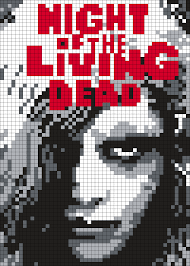 night of the living dead poster perler bead pattern bead sprite