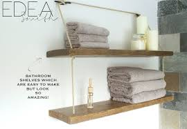 Wall Shelf Bathroom Diy Reclaimed Wood Bathroom Shelves Edea Smith