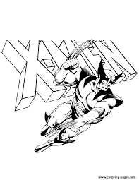 wolverine men logo comic coloring pages printable