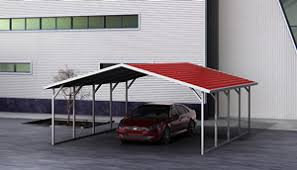 Steel Car Port Galvanized Steel Carports U0026 Strong Metal Cover Kits
