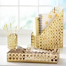 Chevron Desk Accessories Golden Glam Desk Accessories Pbteen