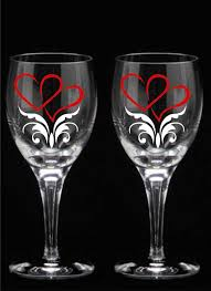 wedding gift glasses valentines day gifts heart wine glasses flutes or