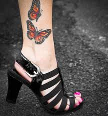 butterfly ankle only tattoos