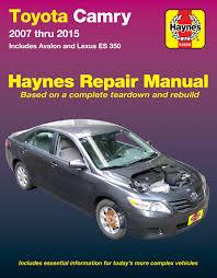 toyota camry u0026 avalon u0026 lexus es 350 07 15 haynes repair manual