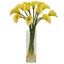 yellow calla nearly mini calla floral arrangements in yellow