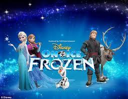 disney u0027s frozen performed u0027on ice u0027 daily mail