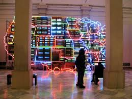 View Map Of The United States by Nam June Paik Creates A Cultural Map Of The United States Using