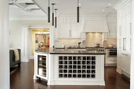 Transitional Pendant Lighting Kitchen - craftsman wine racks kitchen traditional with beige wall dual zone