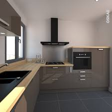 cuisine taupe et bois cuisine et ergonomique en l couleur taupe et brillante plan