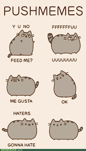 Pusheen The Cat Meme - animated click through to see d via memebase original artist