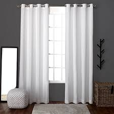 Drapery Panels With Grommets White Linen Curtain Panels Amazon Com