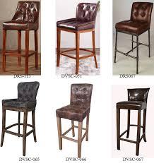 oak wood bar stools rustic lodge antique leather tavern bar stool with oak wood legs