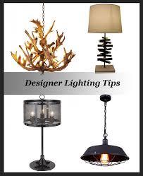 designer lighting tips
