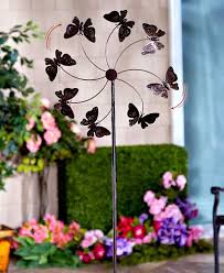 Garden Spinners And Decor Garden Spinner Stakes Large Huge Jumbo Over 5 U0027 Tall Butterfly