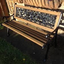 bench iron wood bench garden furniture wrought iron garden bench