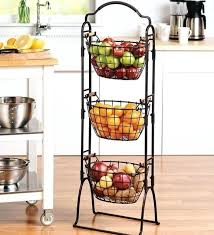 fruit basket stand fruit storage basket 3 tier wire basket stand tiered iron fruit