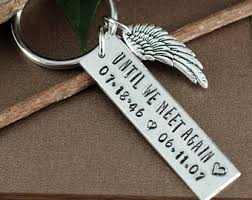 Remembrance Keychain Remembrance Keychain Until We Meet Again Keychain Memorial