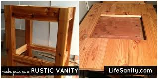 have you ever considered building your own rustic vanity make