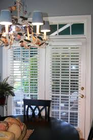 Patio Door With Blinds Between Glass by Furniture White Horizontal Blind On White Wooden Double Door As