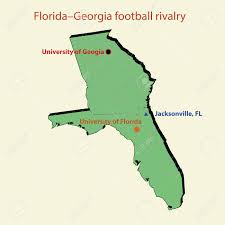 Jacksonville Florida Map 3d Map Florida Georgia Football Rivalry In Jacksonville Royalty