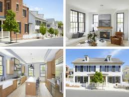 these sag harbor residences are timeless the courtyard and pool or via their secure private garages within the underground garage click the hashtag watchcasetownhouses to view more photos