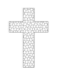 stained glass cross printable coloring sheet sunday
