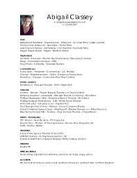 Acting Resume For Beginners Modeling Resume Download Modeling Resume Haadyaooverbayresortcom