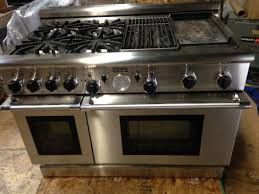 Cooktop With Griddle And Grill 48 Gas Range Thorkitchen Professional 48 Gas Range Reviews Wayfair