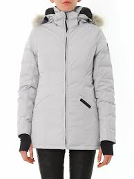 canada goose dorset fur trim down coat in gray lyst