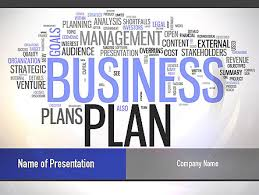 business plan word cloud presentation template for powerpoint and