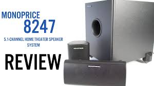 energy home theater speakers monoprice 8247 5 1 channel home theater speakers review youtube