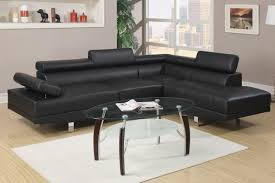 Cheap Black Leather Sectional Sofas Black Faux Leather Sectional Sofa F7310 Buy 4 Less Furniture